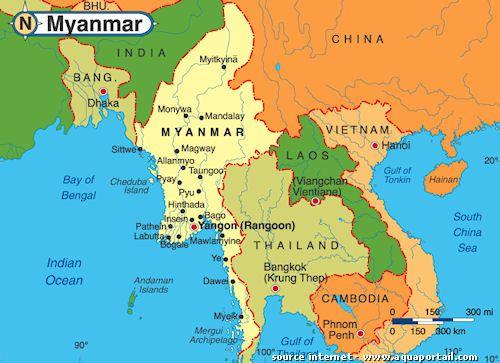 Le nom officiel de la Birmanie est le Myanmar.